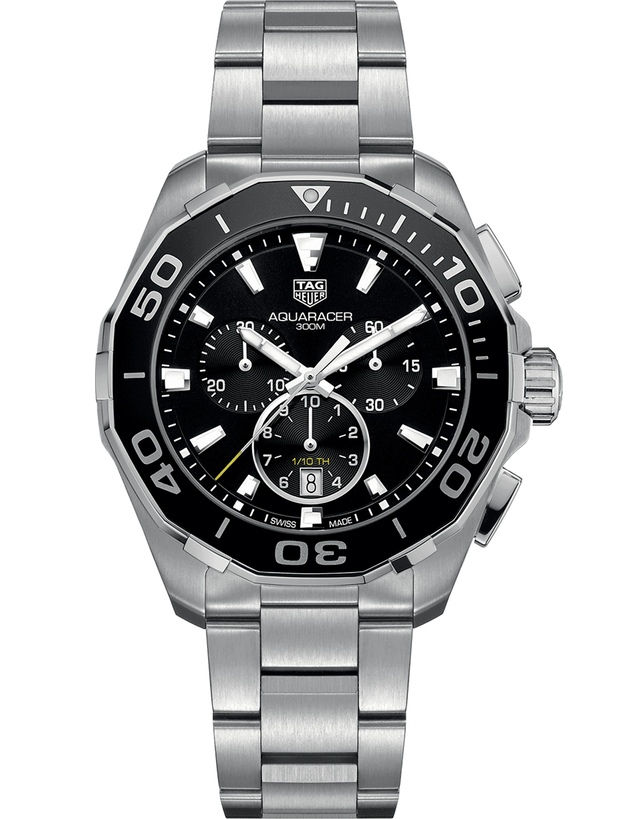 Tag Heuer Aquaracer 300M Chronograph Black Dial Steel Men's Watch