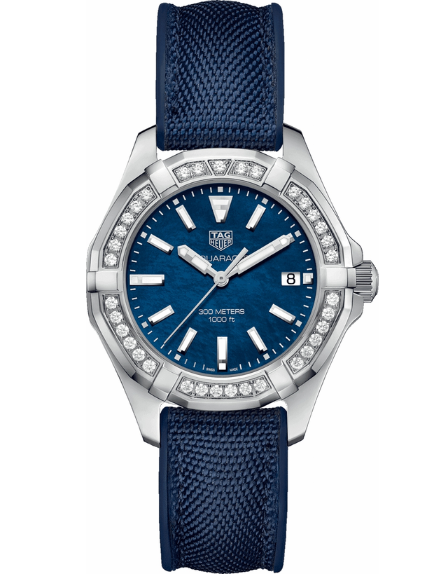 Tag Heuer Aquaracer Blue Mother Of Pearl Diamond Dial Women's Watch