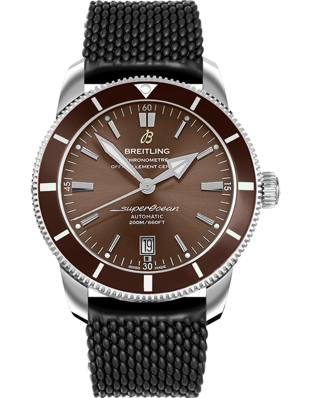Breitling Superocean Heritage II Automatic 46 Copperhead Bronze Dial Black Rubber Strap Men's Watch