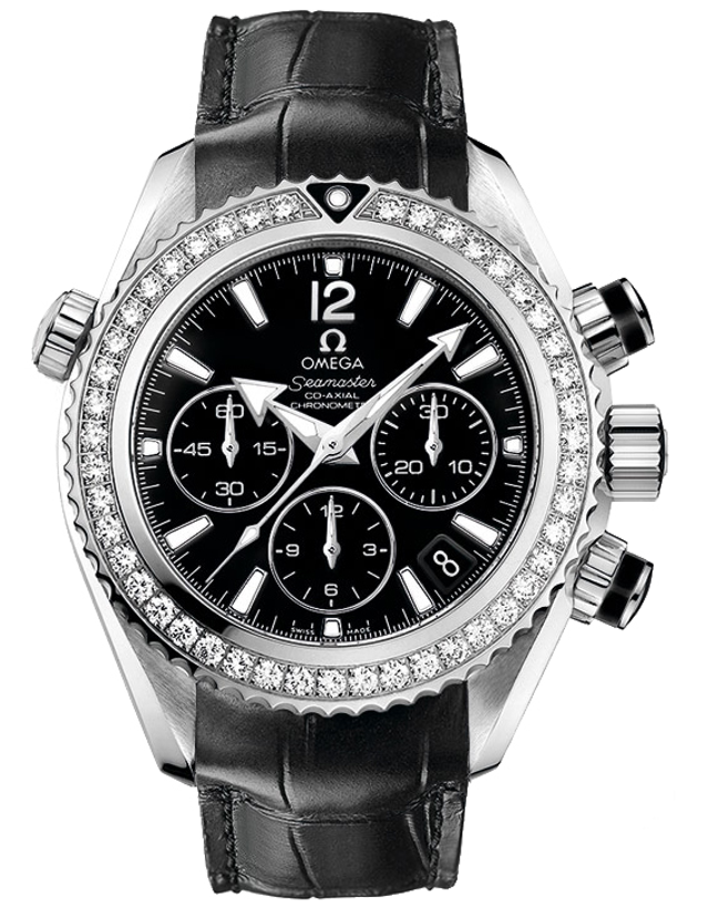 Omega Seamaster Planet Ocean Chronograph Automatic Diamond Ladies Watch