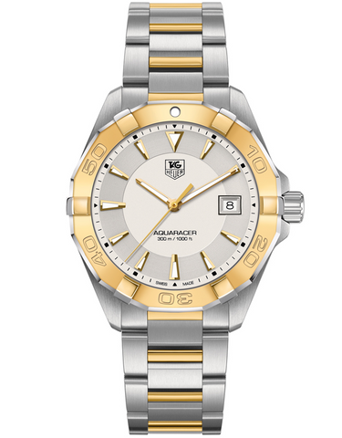 Tag Heuer Aquaracer 300M 41mm Stainless Steel And 18K Yellow Gold Men's Watch