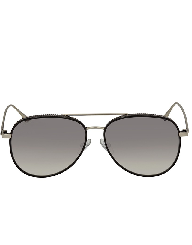JIMMY CHOO GREY MIRROR SHADED SILVER AVIATOR SUNGLASSES