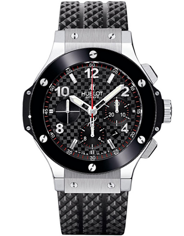 Hublot Big Bang 44mm Black Chronograph Ceramic Bezel Rubber Strap Men's Watch