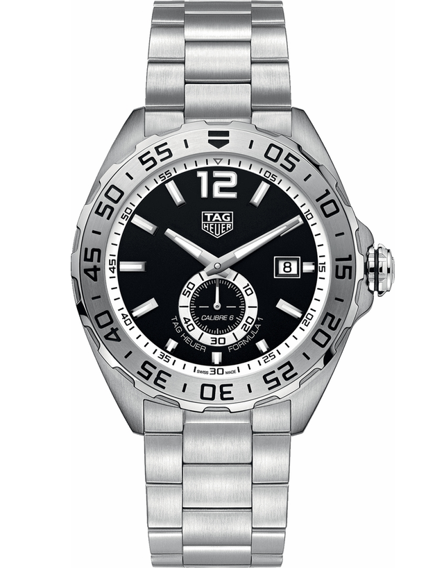 Tag Heuer Formula 1 Automatic Calibre 6 Black Dial 43mm Steel Men's Watch