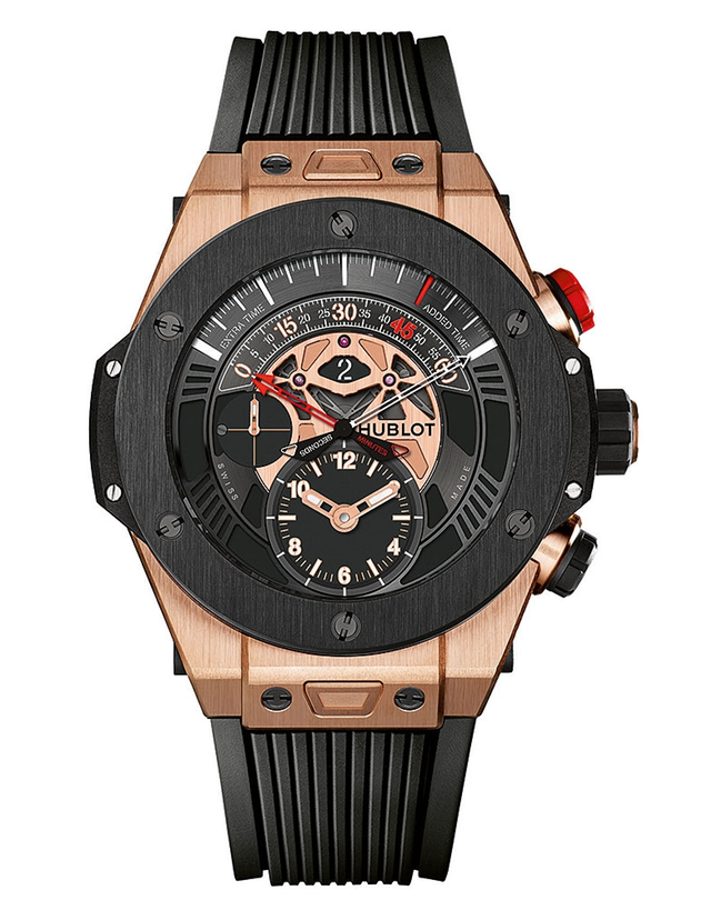 ef0504d68 Hublot Big Bang Bi Retrograde King Gold Black Dial Chronograph Men's Watch
