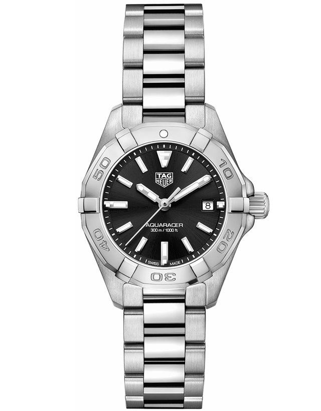 TAG HEUER AQUARACER LADY 300M 27MM BLACK DIAL WOMEN'S WATCH