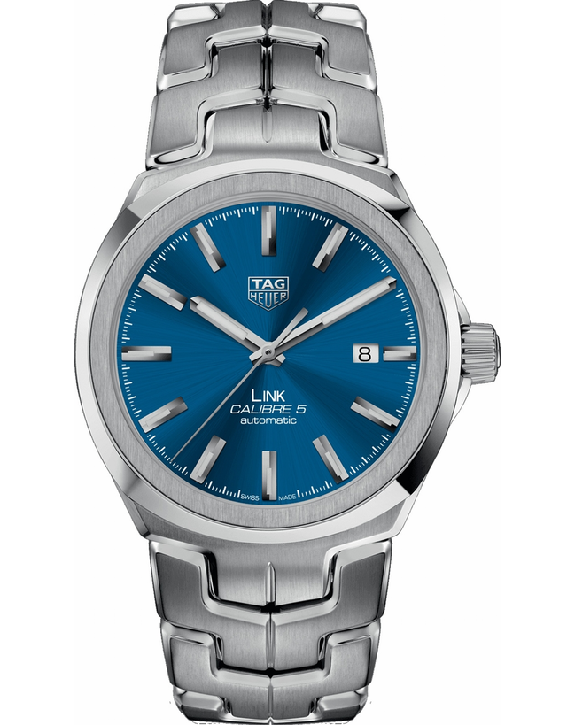 TAG HEUER LINK AUTOMATIC BLUE DIAL STAINLESS STEEL MEN'S WATCH