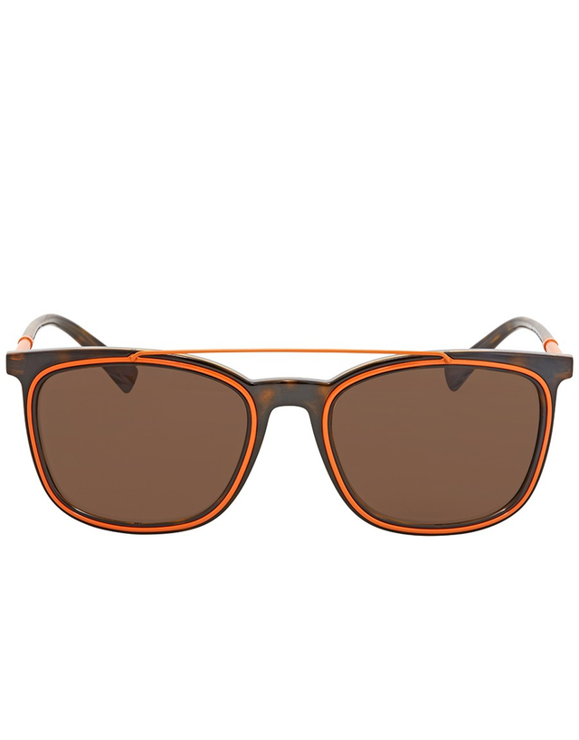 VERSACE BROWN SQUARE SUNGLASSES