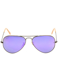 RAY-BAN AVIATOR FLASH LILAC MIRROR 55 MM SUNGLASSES