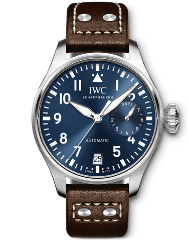 IWC Big Pilot's Le Petit Prince Blue Dial Brown Leather Men's Watch