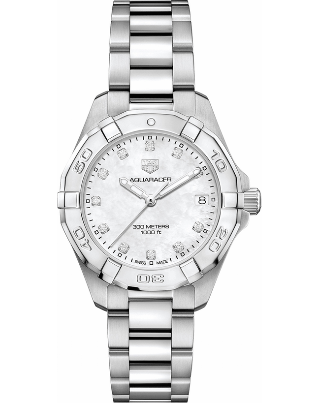 Tag Heuer Aquaracer Lady 300M 32Mm Mother Of Pearl Diamond Dial Women's Watch
