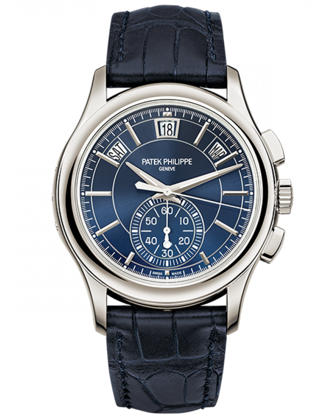 Patek Philippe Complications Blue Dial Annual Calendar Platinum Men's Watch