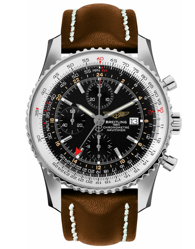 BREITLING NAVITIMER WORLD GMT CHRONOGRAPH MEN'S WATCH