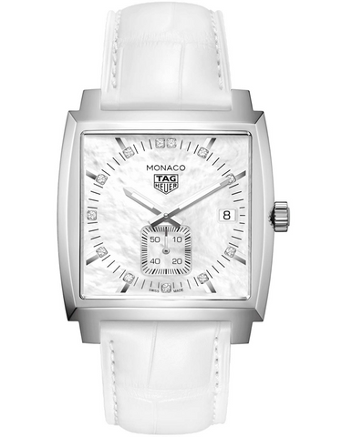 Tag Heuer Monaco Quartz Mother of Pearl Diamond Dial Women's Watch