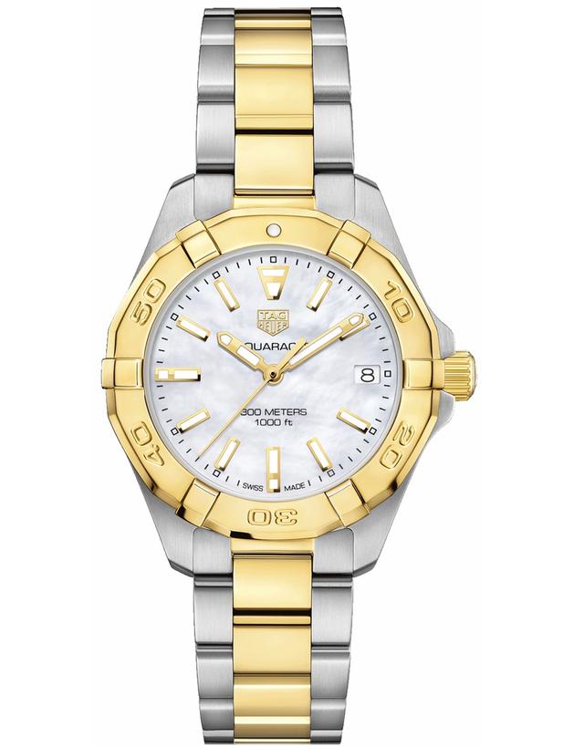 Tag Heuer Aquaracer Lady 300M 32Mm Yellow Gold & Steel Women's Watch