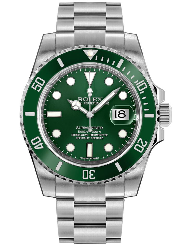Rolex Submariner Date 40mm Green Bezel Men's Watch