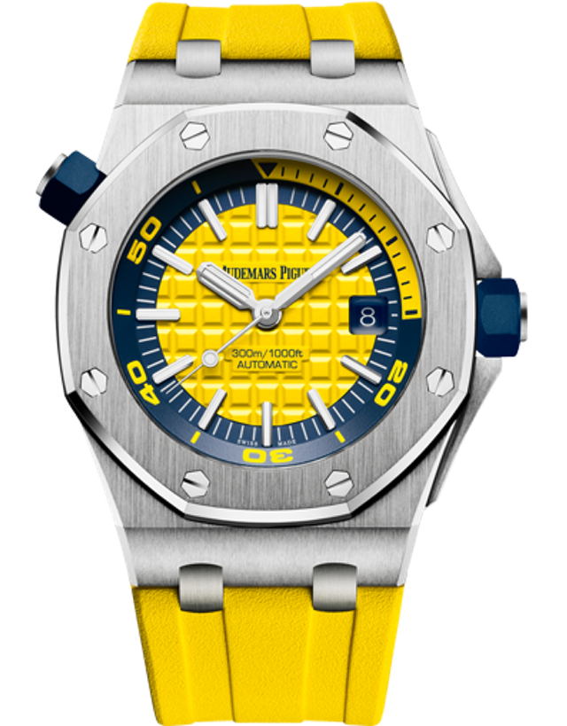 AUDEMARS PIGUET ROYAL OAK OFFSHORE STAINLESS STEEL YELLOW AUTOMATIC