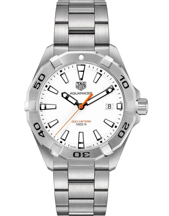 Tag Heuer Aquaracer Quartz White Dial Stainless Steel Men's Watch