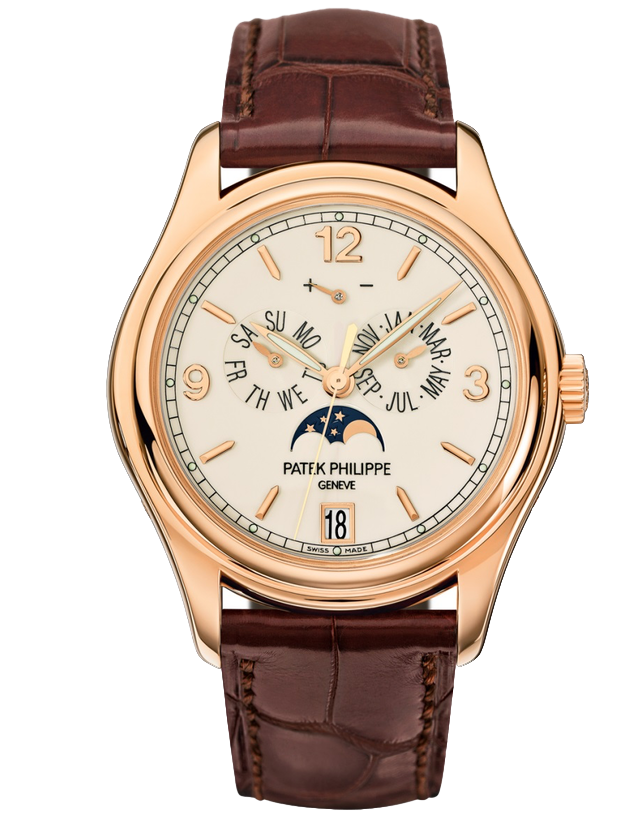 Patek Philippe Complications 18kt Rose Gold White Automatic Men's Watch