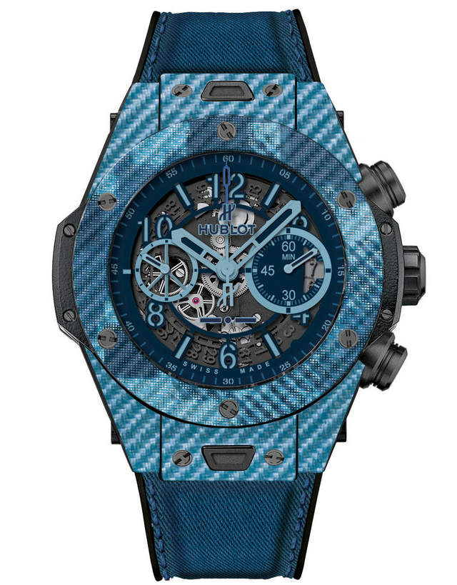 HUBLOT BIG BANG UNICO ITALIA INDEPENDENT BLUE CAMO LIMITED EDITION MEN'S WATCH