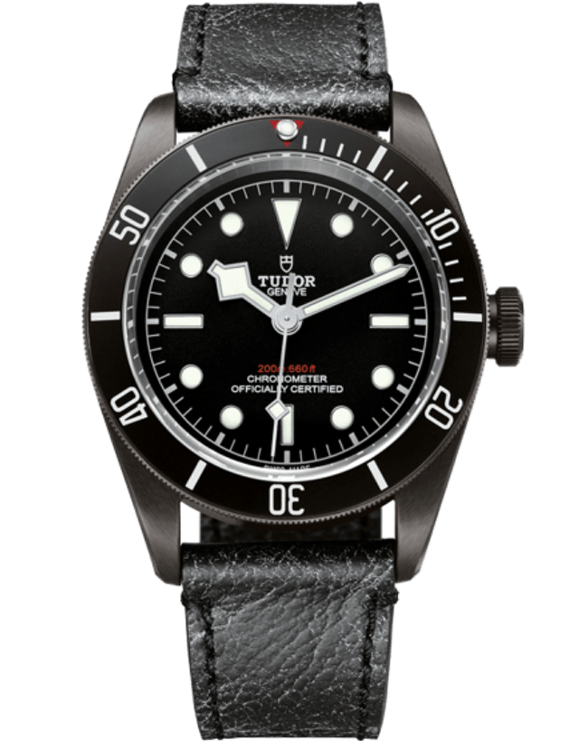 Tudor Heritage Black Bay Dark Automatic Leather Strap Men's Watch