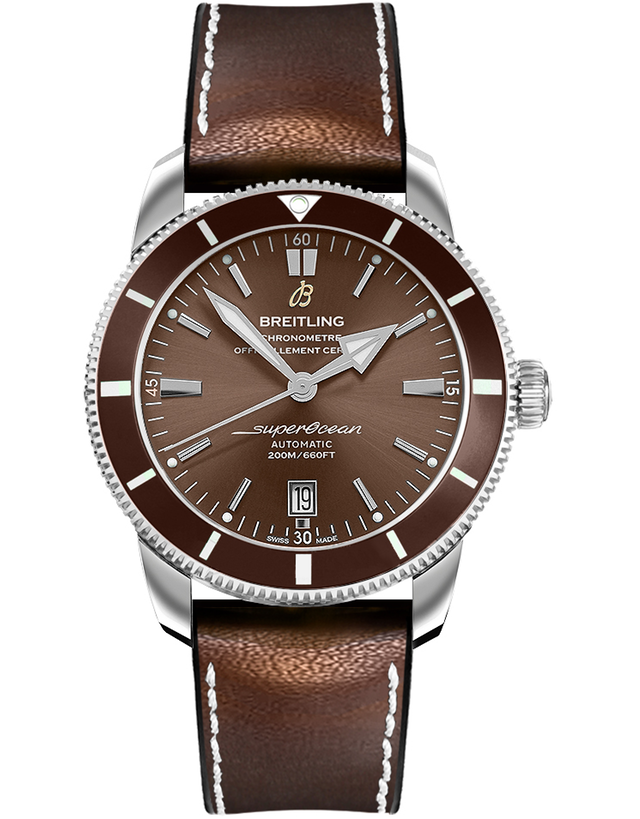 Breitling Superocean Heritage II Automatic 42 Bronze Brown Rubber-Leather Men's Watch