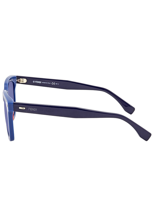 FENDI SKY BLUE MIRROR SQUARE SUNGLASSES