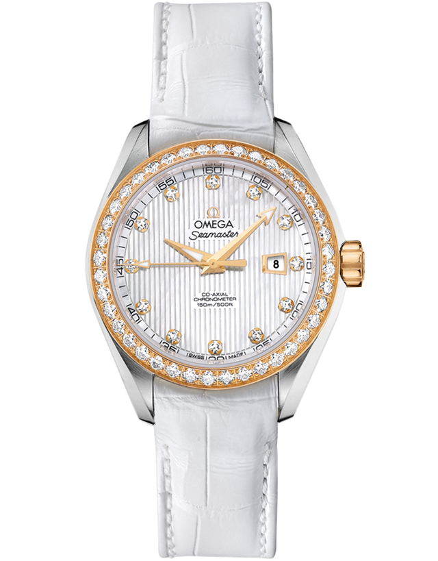 Omega Seamaster Aqua Terra Co-Axial Diamond and White Pearl Women's Watch