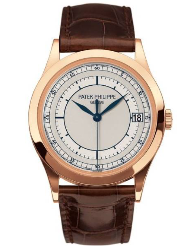Patek Philippe Calatrava 18k Rose Gold Silver Automatic Men's Watch