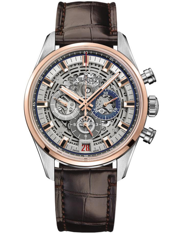 Zenith Chronomaster El Primero 42mm Skeleton Dial Gold & Steel Men's Watch