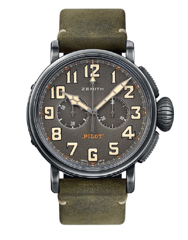Zenith Pilot Heritage Pilot Cafe Racer Men's Watch