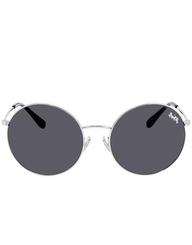 COACH DARK GREY ROUND SUNGLASSES
