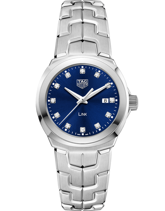 Tag Heuer Link Quartz 32Mm Blue Diamond Dial Women's Watch