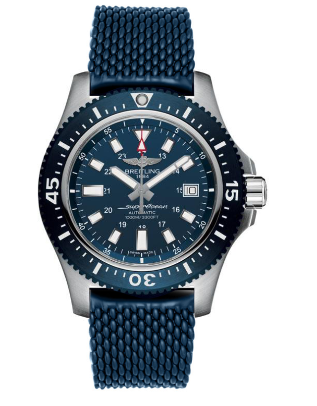 BREITLING SUPEROCEAN 44 SPECIAL MARINER BLUE DIAL BLUE RUBBER MEN'S WATCH