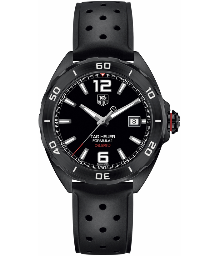 TAG HEUER FORMULA 1 AUTOMATIC BLACK TITANIUM MEN'S WATCH