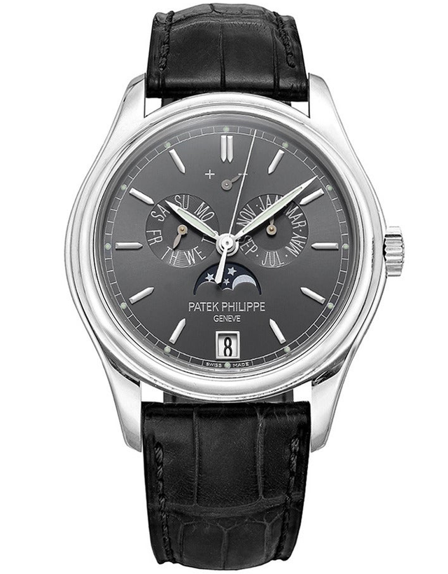 Patek Philippe Complications White Gold Black Automatic Men's Watch
