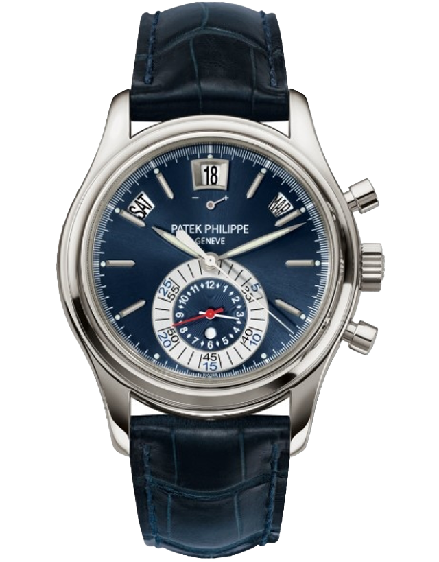Patek Philippe Complications Platinum Dark Blue Automatic Men's Watch