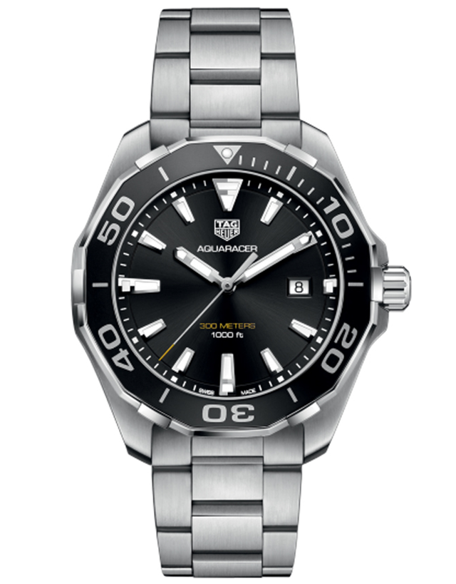 Tag Heuer Aquaracer Quartz Black Dial 43mm Steel Men's Watch