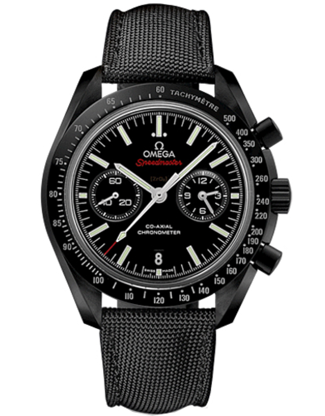 OMEGA SPEEDMASTER MOONWATCH CO-AXIAL CHRONOGRAPH DARK SIDE OF THE MOON CERAMIC MEN'S WATCH