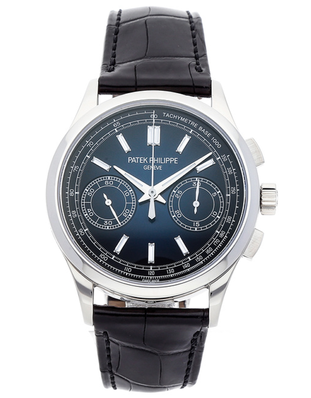 Patek Philippe Complications Platinum Blue Manual Wind Men's Watch