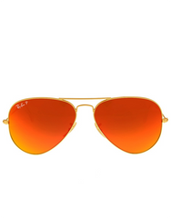 RAY-BAN AVIATOR FLASH POLARIZED ORANGE FLASH SUNGLASSES