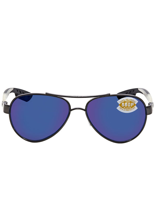 COSTA DEL MAR LORETO BLUE MIRROR 580P AVIATOR SUNGLASSES