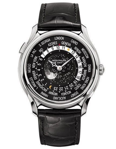 Patek Philippe Anniversary Series 18k White Gold Black Automatic Men's Watch