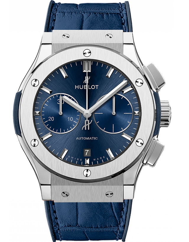 Hublot Classic Fusion Chronograph Blue Dial Titanium Men's Watch