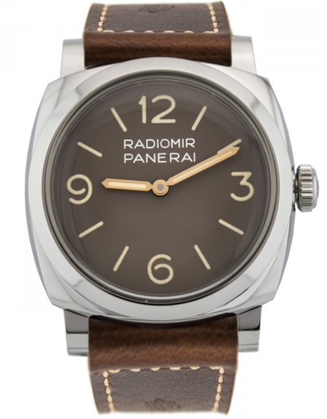 Panerai Radiomir 1940 3 Days Acciaio 47Mm Brown Dial Leather Strap Men's Watch
