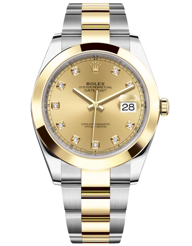 Rolex Datejust Gold And Steel Gold Automatic Men's Watch