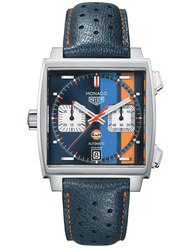 Tag Heuer Monaco Special Edition Gulf Racing 50Th Anniversary Steve Mcqueen Men's Watch