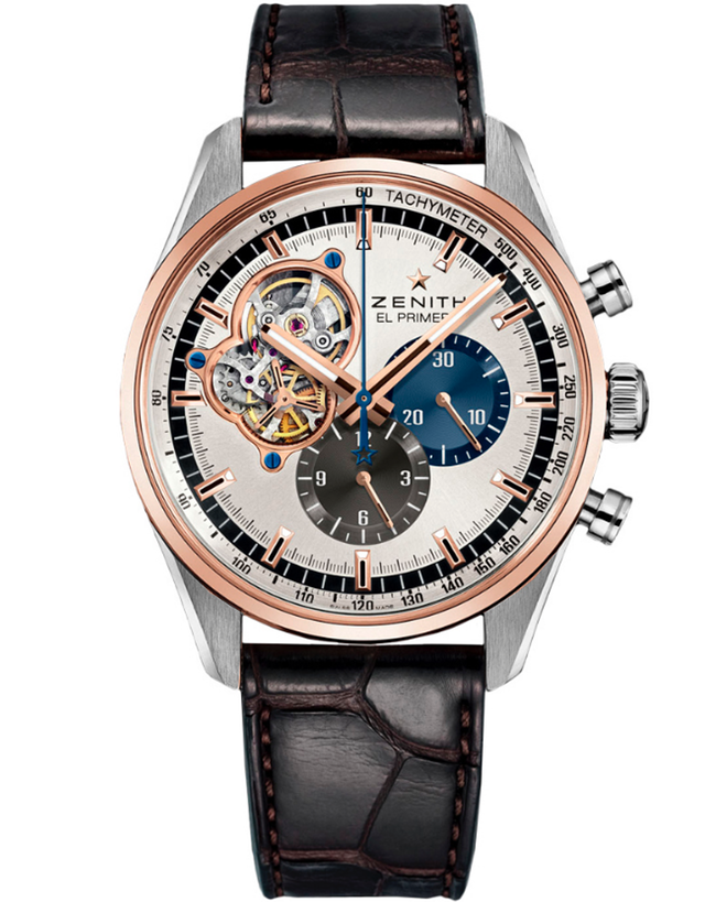 Zenith Chronomaster El Primero Open Rose Gold Brown Leather Men's Watch
