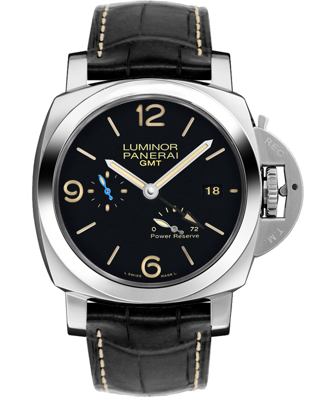 Panerai Luminor 1950 3 Days Black Dial Black Leather Men's Watch