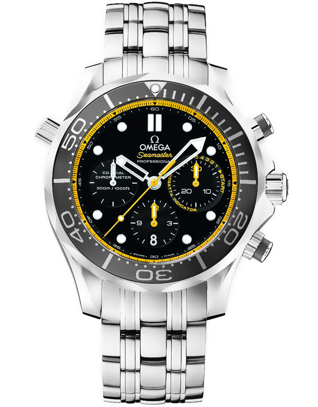 Omega Seamaster 300m Diver Co Axial Chronograph 44mm Mens Watch